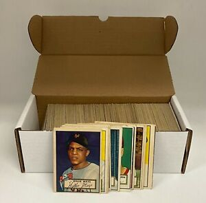 1952 Topps Baseball Complete Low Number Set (310) w/ Willie Mays Feller Berra +