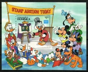 Dominica Stamp Disney Characters At A Stamp Auction Stamp Nh Ebay