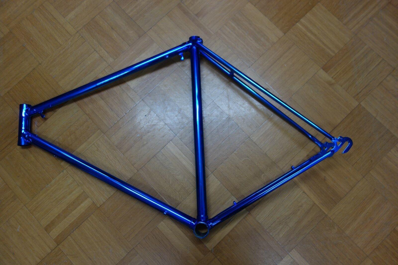Road Bike Frames Unique 58 cm Sitzhöhe. bluee Lacquered
