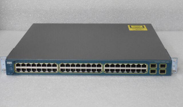 CISCO WS-C3560G-48TS-S Switch 48 10/100/1000 4 SFP w/ racks