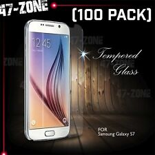 For Samsung Galaxy S7 Premium HD Clear Tempered Glass Screen Protector 100 PC