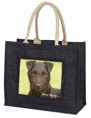 Patterdale Terrier  dir für immer  große schwarze Einkaufstasche Weihnachten,