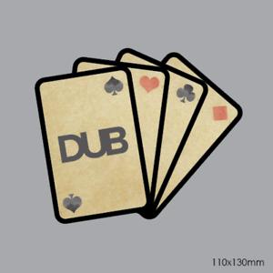 Volkswagen VW Dub Playing Cards Sticker car decal camper van 110x130mm