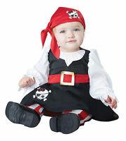 Girls Pirate Anne Bonny Caribbean Fantasy First Mate Dress Up Infant Costume