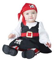Girls Pirate Anne Bonny Caribbean Fantasy First Mate Dress Up Infant Costume