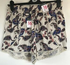BNWT-Primark-Ladies-Patterned-Shorts-Size-16