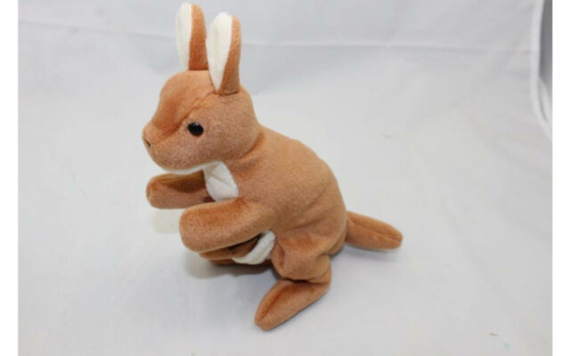 e723a2a1830 Ty Beanie Baby Pouch The Kangaroo MWMT Retired Generation 4th Style ...