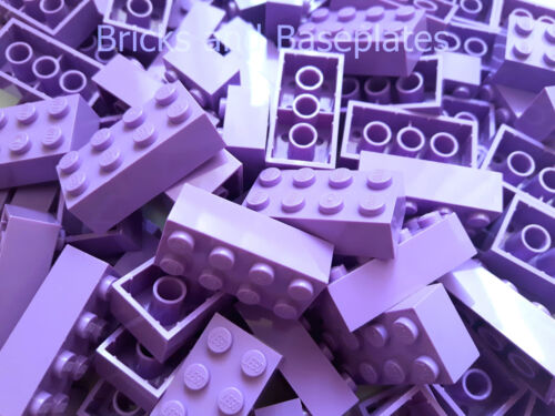 LEGO BRICKS 100 x LAVENDER 2x4 Pin From Brand New Sets Sent in a Clear Sealed