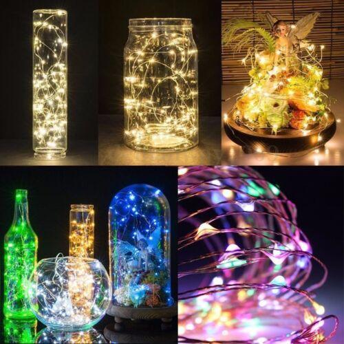 20//50//100 USB LED Fairy String Silver Wire Fairy Light Wedding Xmas Party Decor