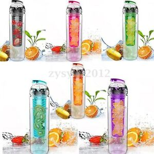 uk 800ml bouteille gourde sport eau v lo jus de fruit citron filtre infusion ebay. Black Bedroom Furniture Sets. Home Design Ideas