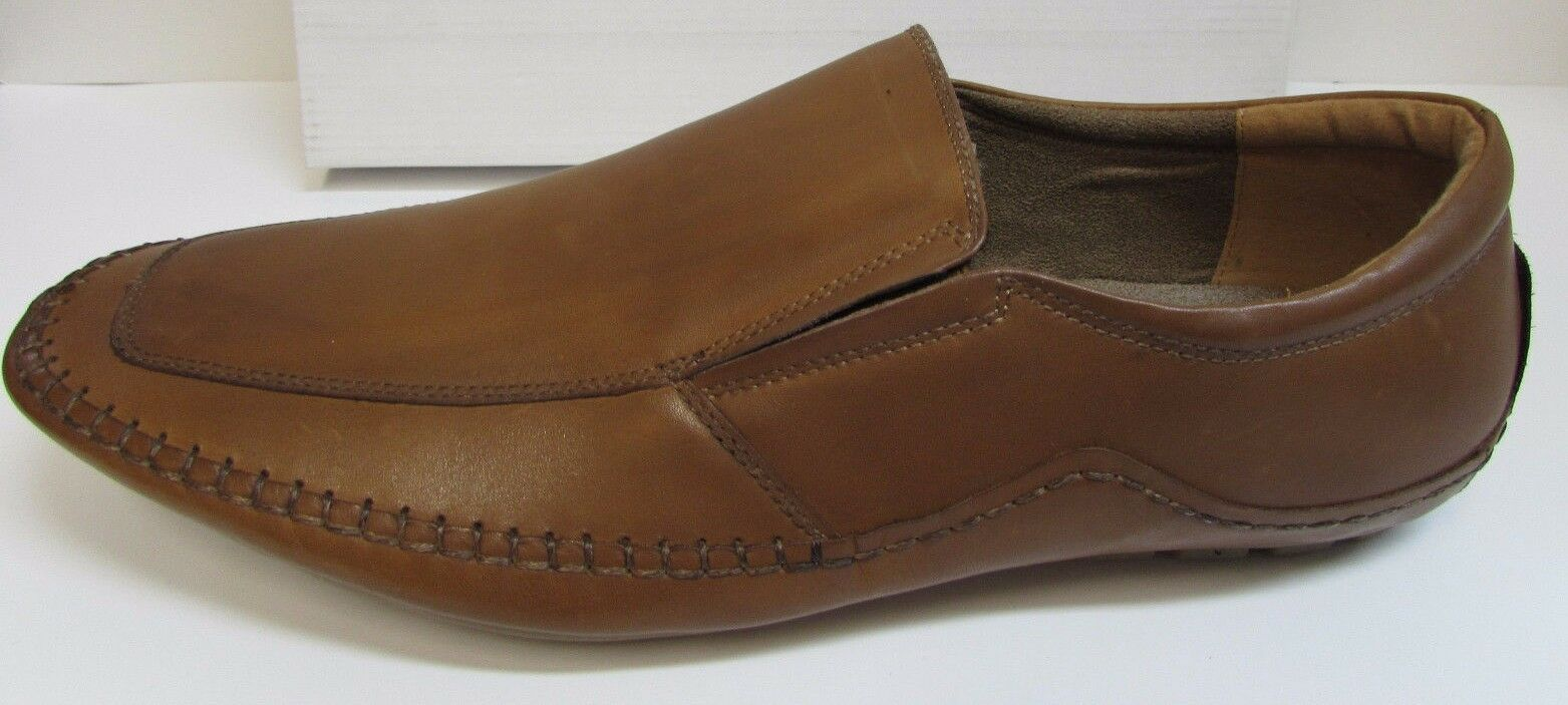Steve Madden Size 13 Tan Leather Loafers New Mens Shoes