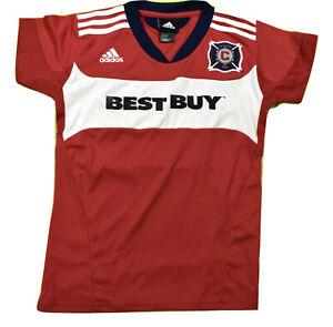 adidas MLS Youth Girls Chicago Fire Soccer Jersey New M, L   eBay