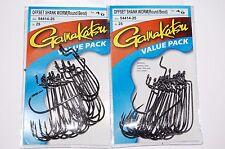 Gamakatsu offset shank worm hook round bend size 4//0 value pack 54414-25