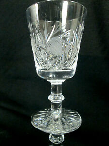 Set-of-4-Pinwheel-Crystal-Wine-Goblets-Glasses-Sold-By-The-Bay