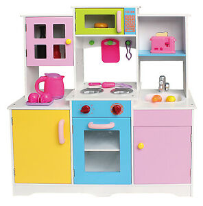 image is loading large girls boys kids wooden play kitchen role - Play Kitchen