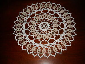 Beautiful NEW Hand Crocheted Doily Two Tone HI-179