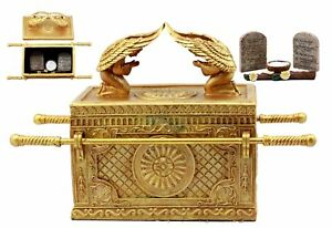 golden ark of the covenant with contents religious decor