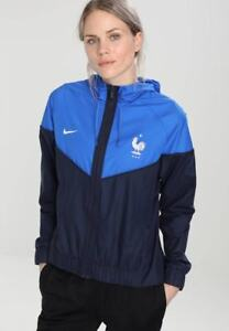 Veste à capuche FFF Nike Windrunner Bleu Femme Femme