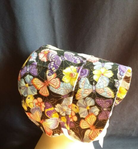 Baby Girls Butterflies Print Design Bonnet //Sun Hat Size 0-6M 6-12M 12-18M
