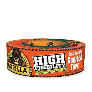 "Gorilla 6004002 Tape, High Visibility Duct Tape, 1.88"" x 35 yd, Blaze Orange, ("