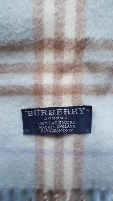 * Authentic Baby Blu Burberry 100% Cashmere Nova Check Women's Sciarpa-mostra Il Titolo Originale