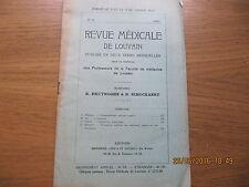 Revue Médicale de Louvain N°15 1933 L'ovulation