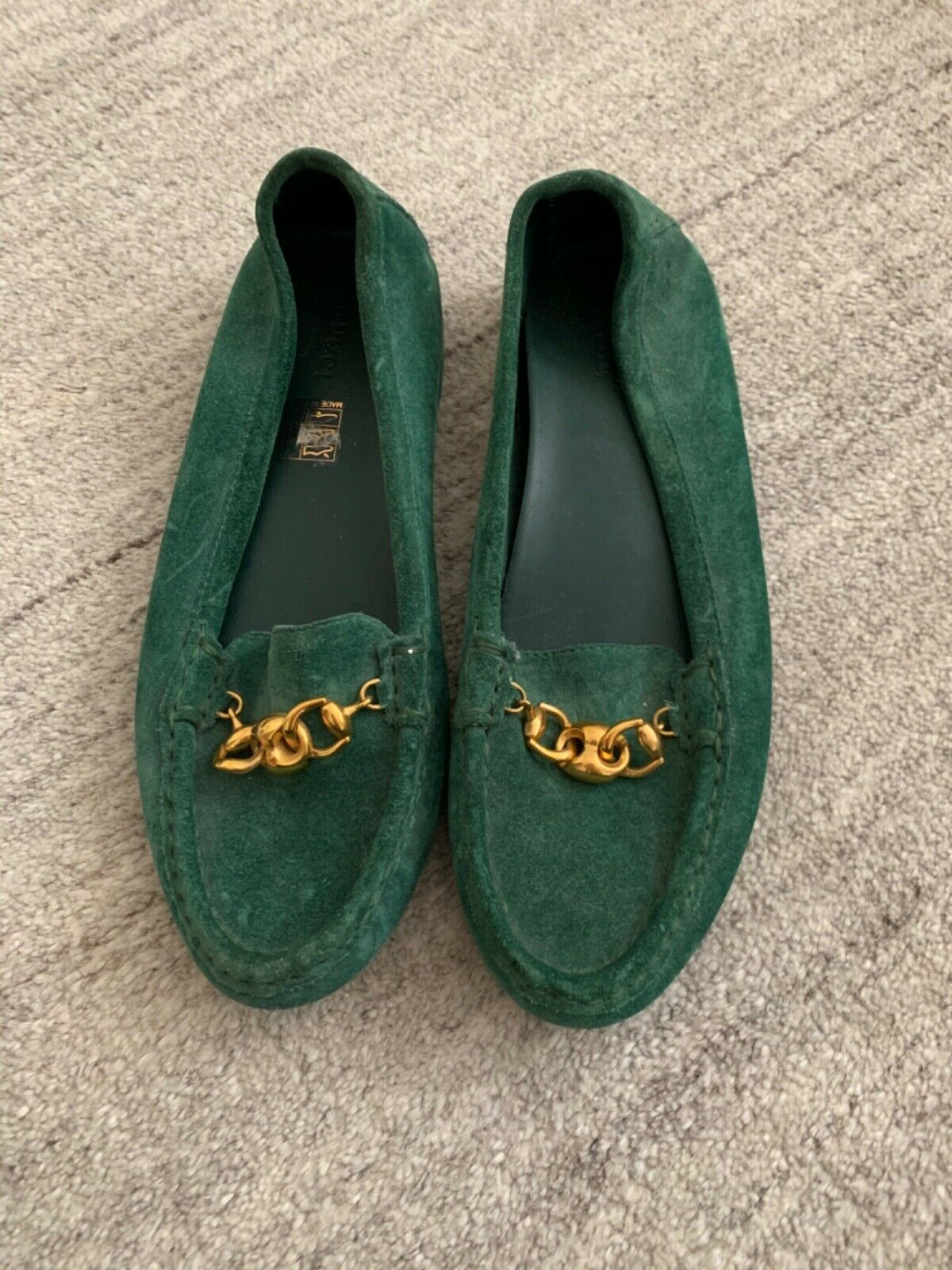 Gucci Suede Green Loafers - image 1