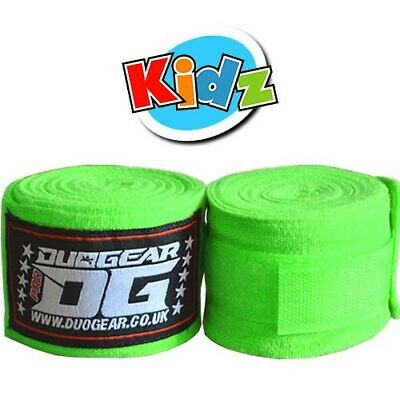 1.5m KIDS YOUTH JUNIOR NEON GREEN THAI BOXING BOXERS HAND WRAPS