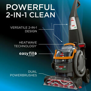 Bissell 15651 Proheat 2x Lift Off Pet Upright Carpet Cleaner Ebay