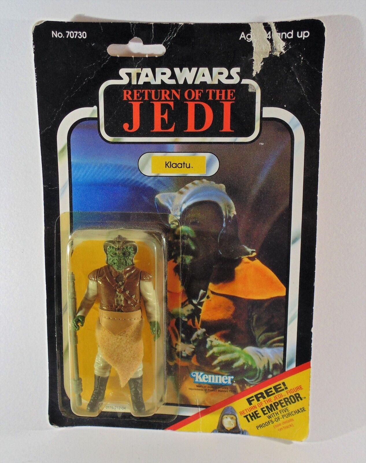 Vintage Klaatu ORIGINAL Kenner Star Wars Figure rougeJ 65 retour cardées Skiff Guard
