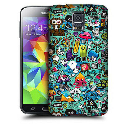 CUSTODIA COVER  per SAMSUNG SM i9600 GALAXY S5 TPU BACK CASE STICKERS