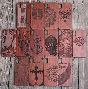 For-iPhone-X-3D-Natural-Wooden-Wood-Bamboo-Hybrid-Hard-PC-Case-Back-Slim-Cover