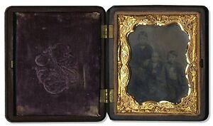 1857-Ninth-Plate-Daguerreotype-Children-Union-Case-9th-Photo-Photograph-Child