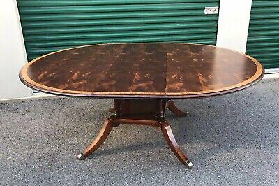 Ethan Allen Newport Hansen Dining Table 34 6404 570 62 Round Mahogany Up To 80 Ebay