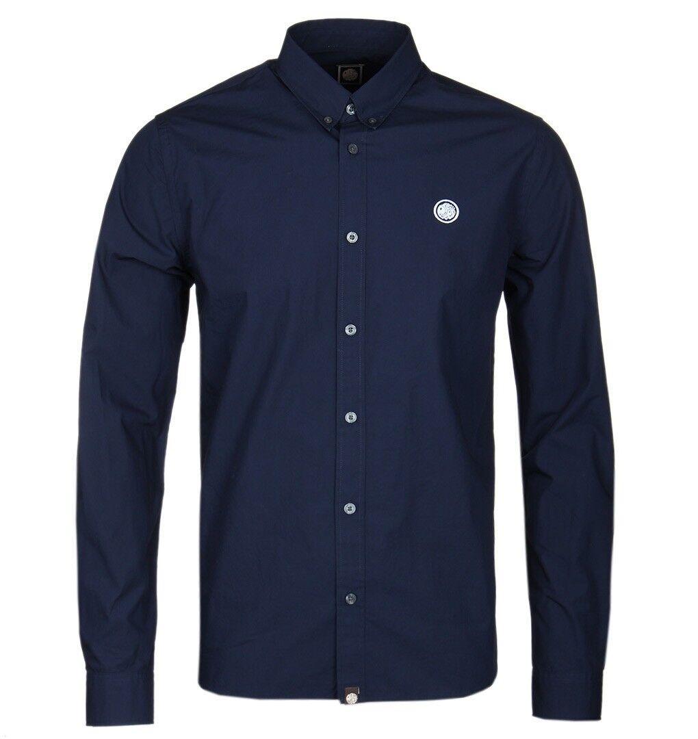 BNWT Pretty Green Vectis Shirt Navy bluee XXL RRP  S8GMU54969611 Badge Logo
