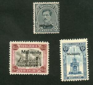 BELGIQUE-EUPEN-MALMEDY-N-39-41-YEAR-1921-NEWS-CV