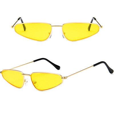 Flat Sunglasses Retro Frame Vintage Fashion UV400 Eyewear Small Cat Eye Women