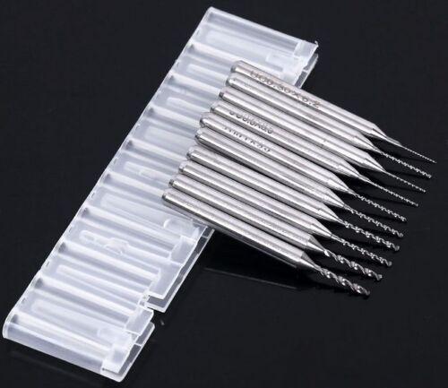 "10 x Carbide Micro Mini Drills Bits 0.4 mm//0.157/"" PCB Dremel Horloger À faire soi-même New"