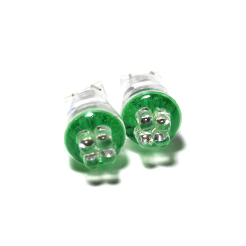 Fits Mini One R56 Green 4-LED Xenon Bright Side Light Beam Bulbs Pair Upgrade