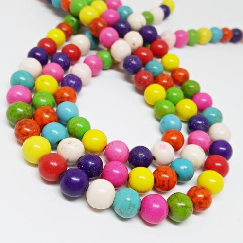 Nellys Strang Perles grain comme un Turquoise Gemmes Perles Multicolores