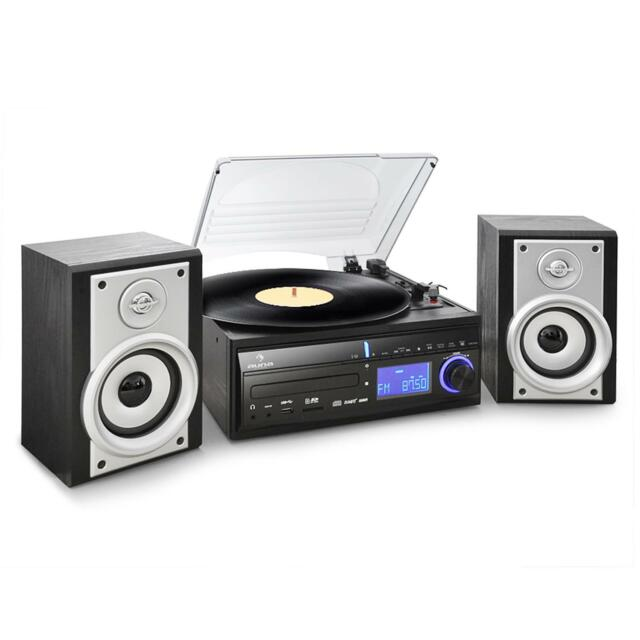[RICONDIZIONATO] IMPIANTO STEREO HI FI GIRADISCHI VINILI LETTORE CD MP3 USB SD R