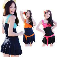 Ladies Fashion Swimming Costume Swimwear Swimsuit One Piece Skirt 8 10 12 16 18