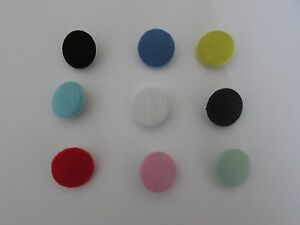 Fabric-Buttons-6-per-pack-size-15mm-19mm-23mm-Various-Colours