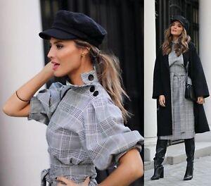 About Kleid Details Belted Gürtel Dress Printed Karo Midi Tunic Checked Slits Zara Kariert 4AL3qc5Rj