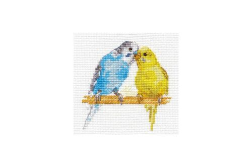 Cross Stitch Kit Parrots art 0-176