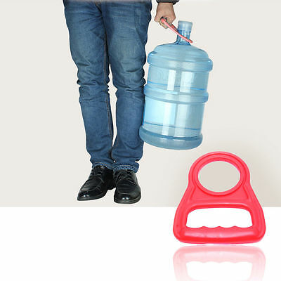 Bottled Water Pail Bucket Handle Upset Nergy Thickened Red Holder