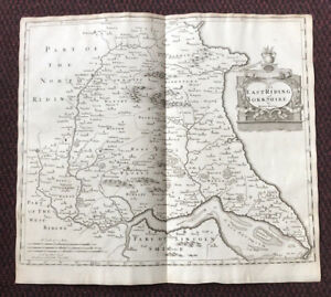 1695-MAP-of-EAST-RIDING-of-YORKSHIRE-Original-English-Antique-Map-Robert-Morden