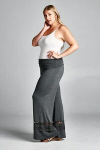 22 Pant Casual Grey Lace Natura Palazzo 16 Lounge alla Bnwt Per Yoga Curve Taglie dalla tYPwqwd