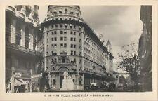Postcard Argentina Buenos Aires RPPC Av. Roque Saenz Pena Unused MINT c1940s