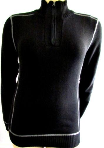 Antracite 44 Maniche Maglia S Colletto 46 Lunghe Pullover Nero Zip Uomo Nuovo YBw1qwv